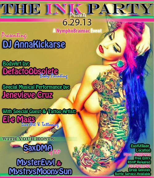 The ink party flyer 3