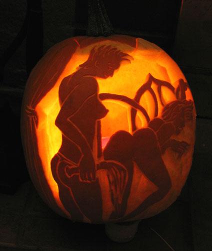 тыква на хэллоуин порно фото
